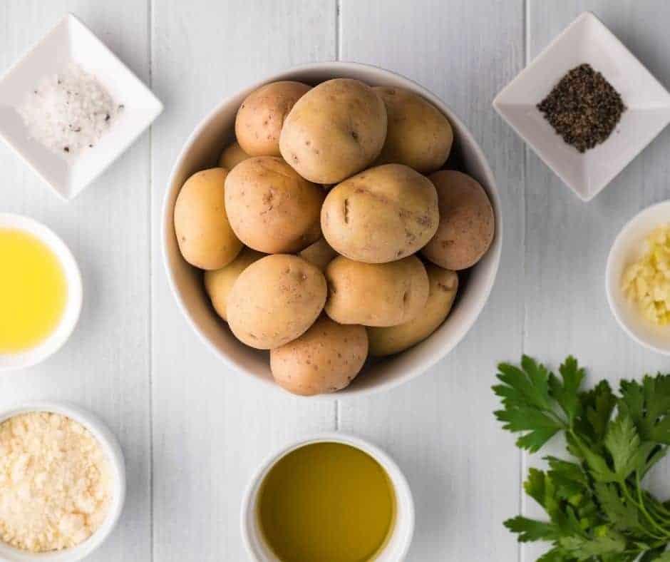 Ingredients Needed For Air Fryer Garlic Parmesan Truffle Potato Wedges