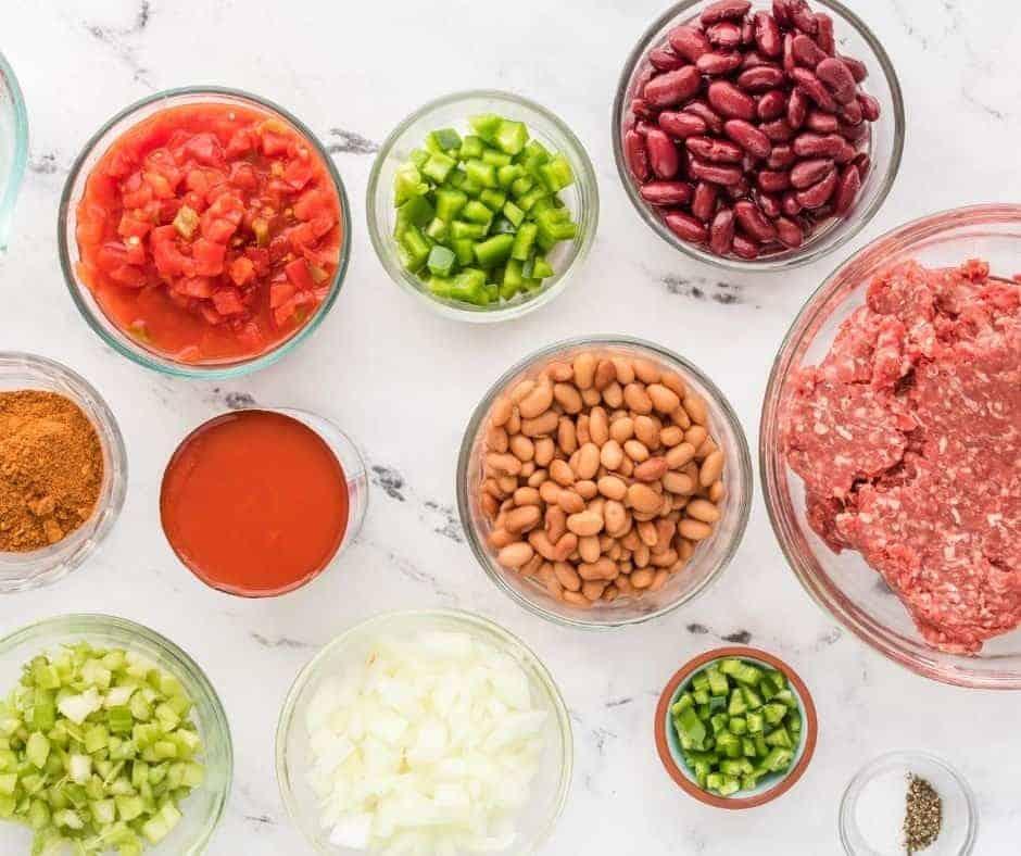 Ingredients Needed For Instant Pot Wendy's Chili Copycat Recipe