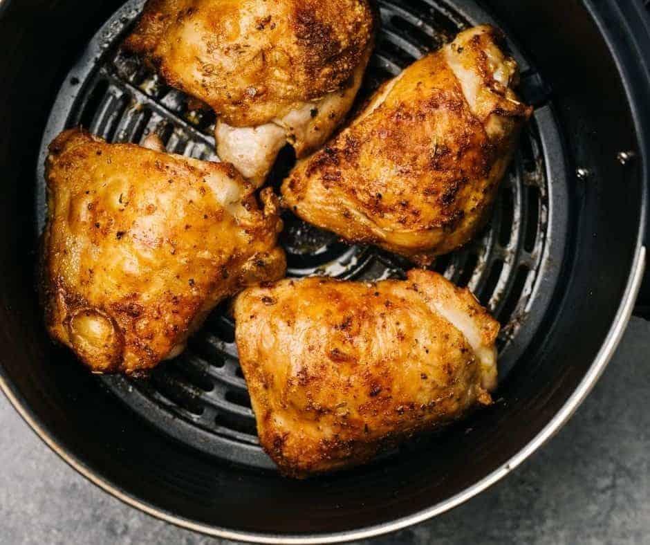 Lemon Pepper Air Fryer Chicken Thighs