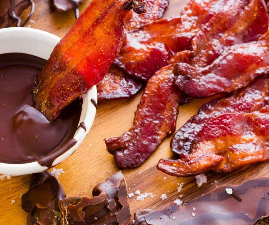Air Fryer Maple Bourbon Candied Bacon