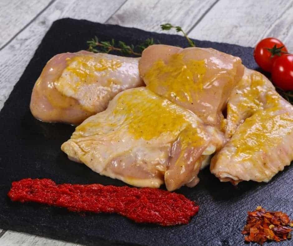 Mustard on Chicken
