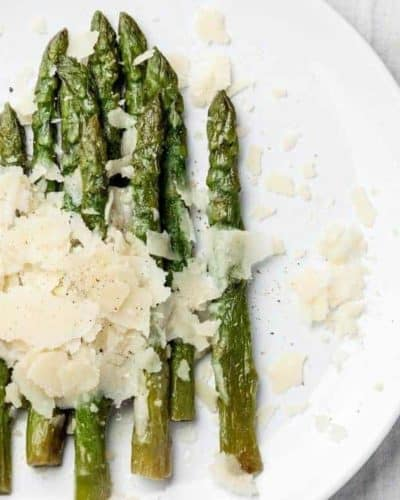 Air Fryer Asparagus With Garlic and Parmesan