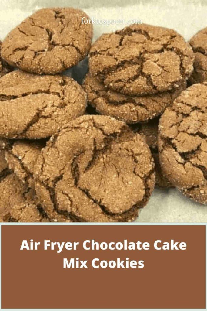 Air Fryer Chocolate Cake Mix Cookies