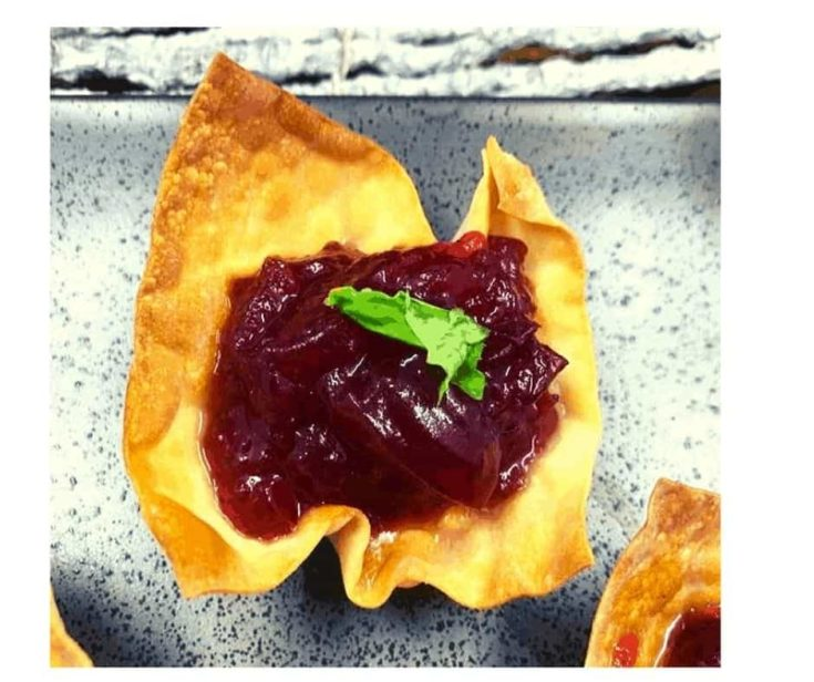 Air Fryer Cranberry Brie Canapes