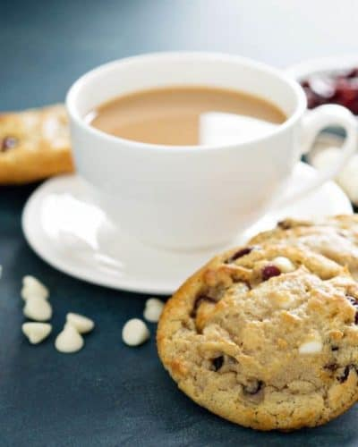 Air Fryer Cranberry White Chocolate Chip Cookies