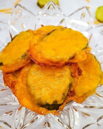 Air Fryer KETO Cheesy Pickles
