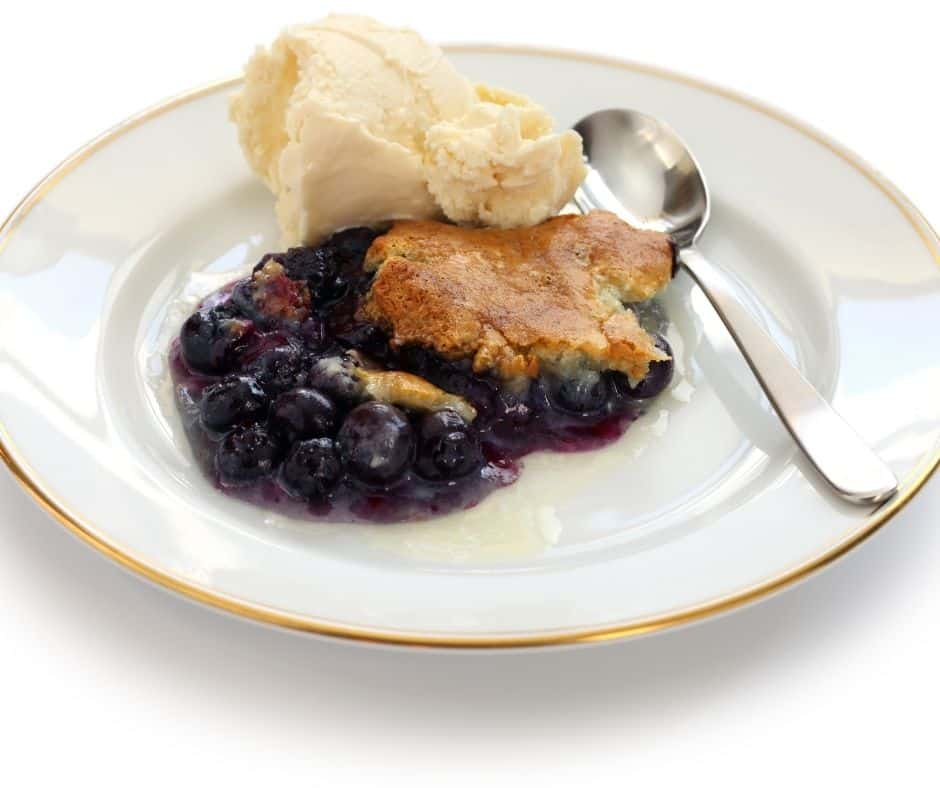 Air Fryer Easy Blueberry Cobbler