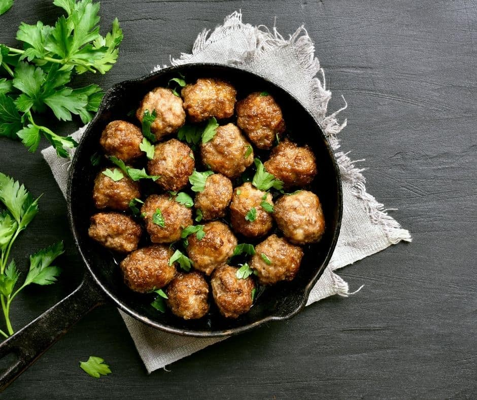 Ingredients Needed For Air Fryer Italian Meatball and Biscuit Bake