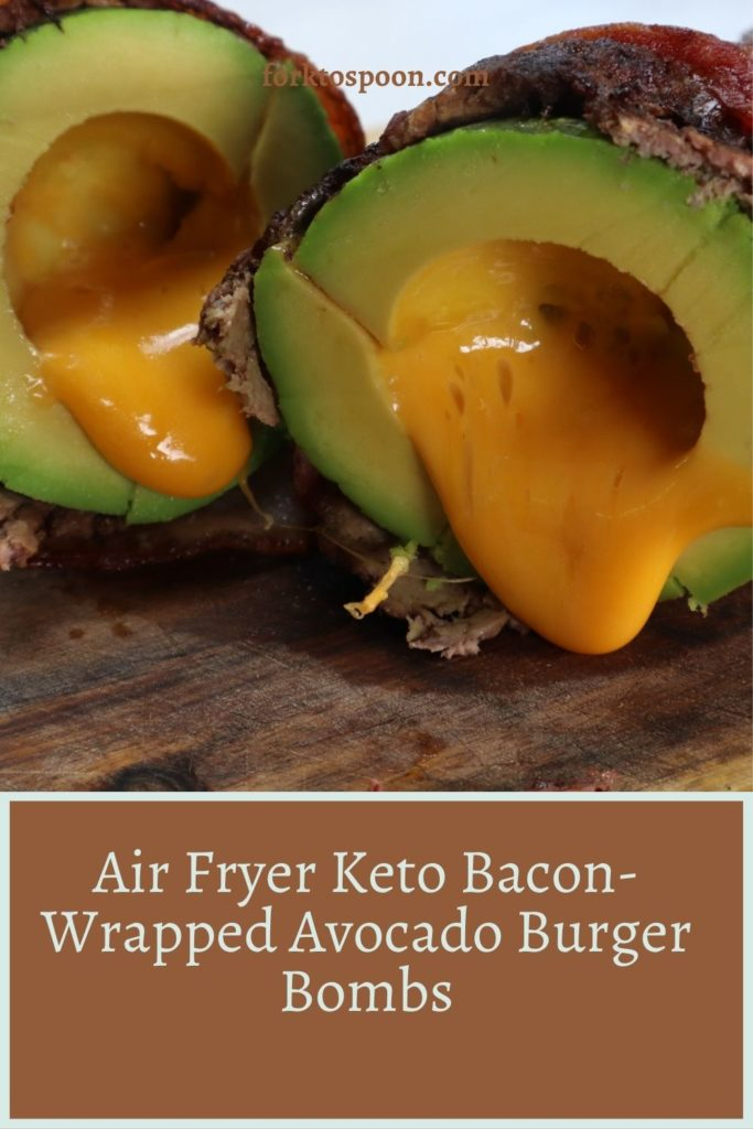 Air Fryer Keto Bacon-Wrapped Avocado Burger Bombs
