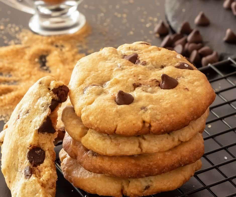 Air Fryer Salted Caramel Chocolate Chip Cookies
