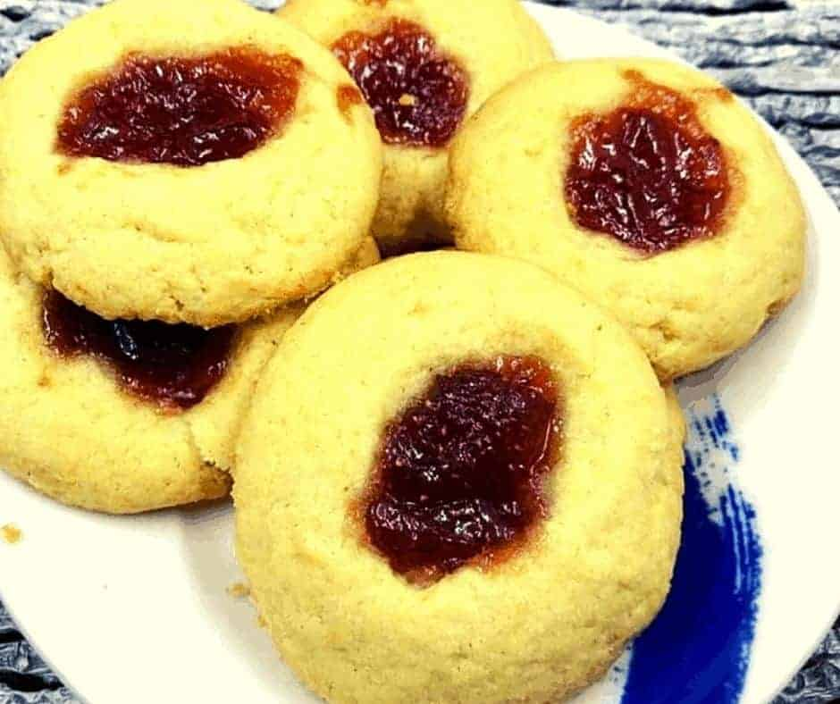 Air Fryer Strawberry Thumbprint Cookies