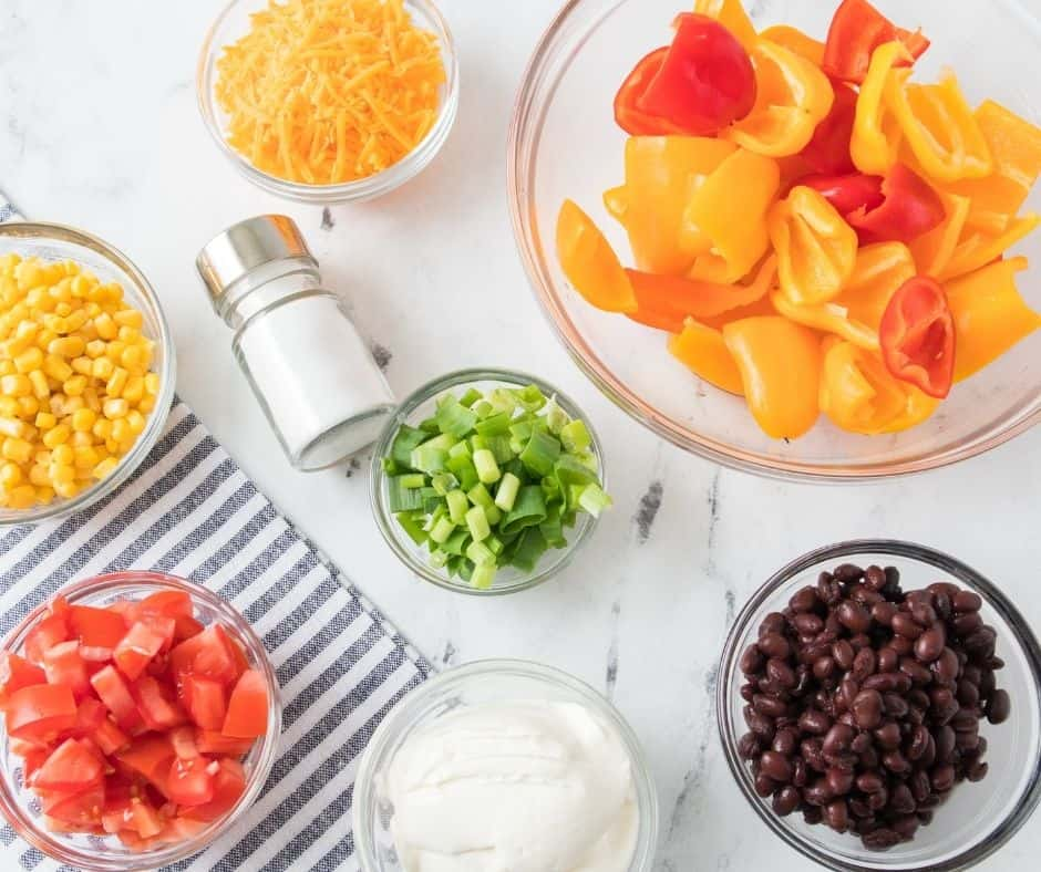 Ingredients Needed For Air Fryer Stuffed Mini Peppers