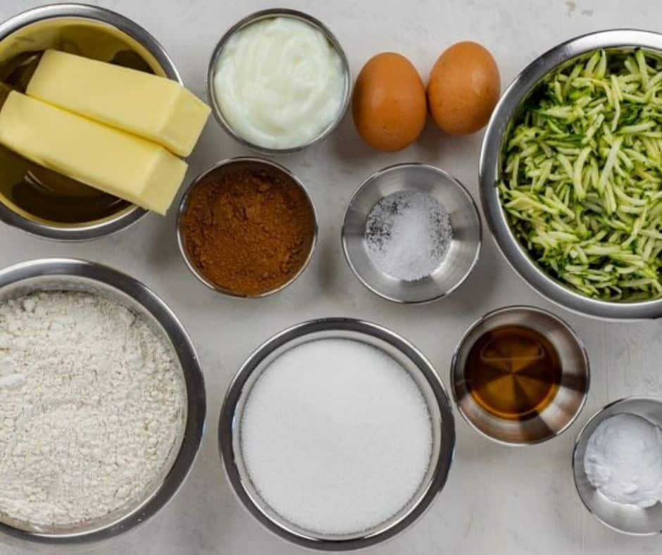 Ingredients For Zucchini Brownies