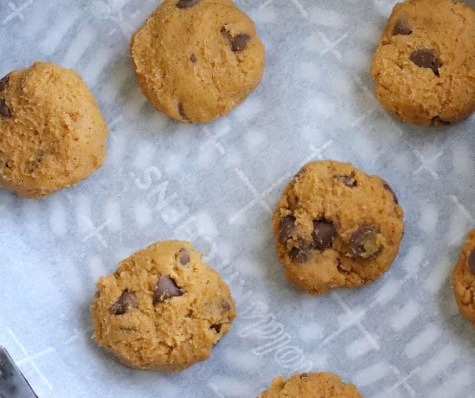 Cookie Dough in Air Fryer Basket