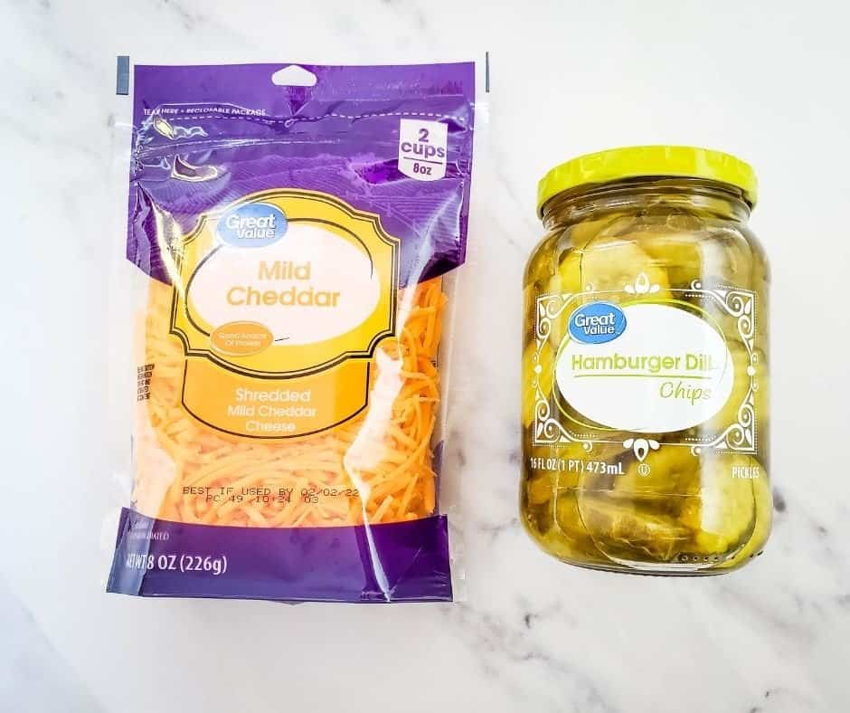 Ingredients Needed For Air Fryer KETO Cheesy Pickles