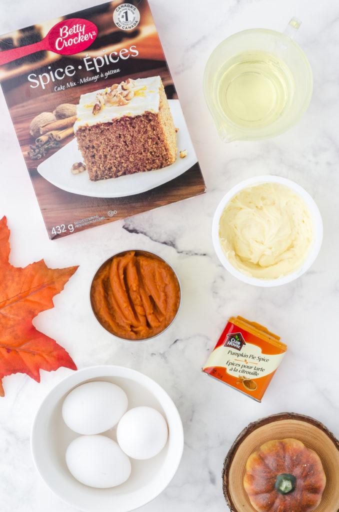 Ingredients Needed For Air Fryer Pumpkin Spice Cupcakes
