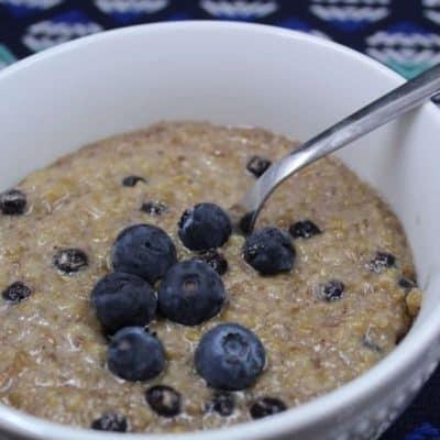 Instant Pot Blueberry Muffin Steel Cut Oatmeal