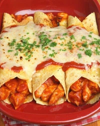 Instant Pot Chicken Enchiladas