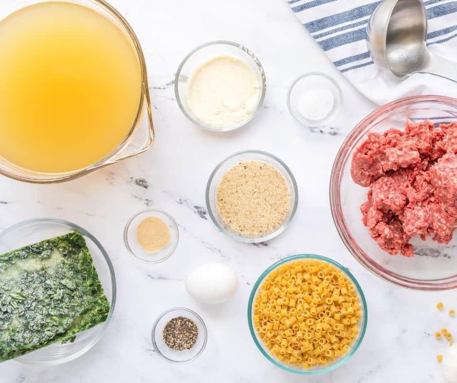 Ingredients Needed For Instant Pot Italian Wedding Soup