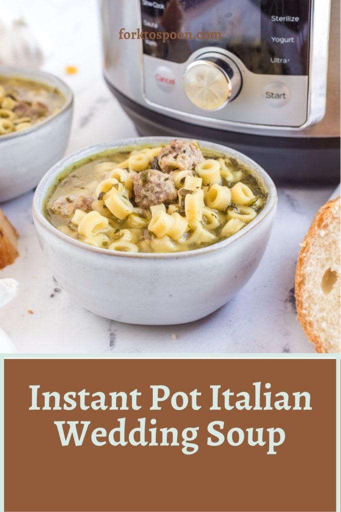 Instant Pot Italian Wedding Soup