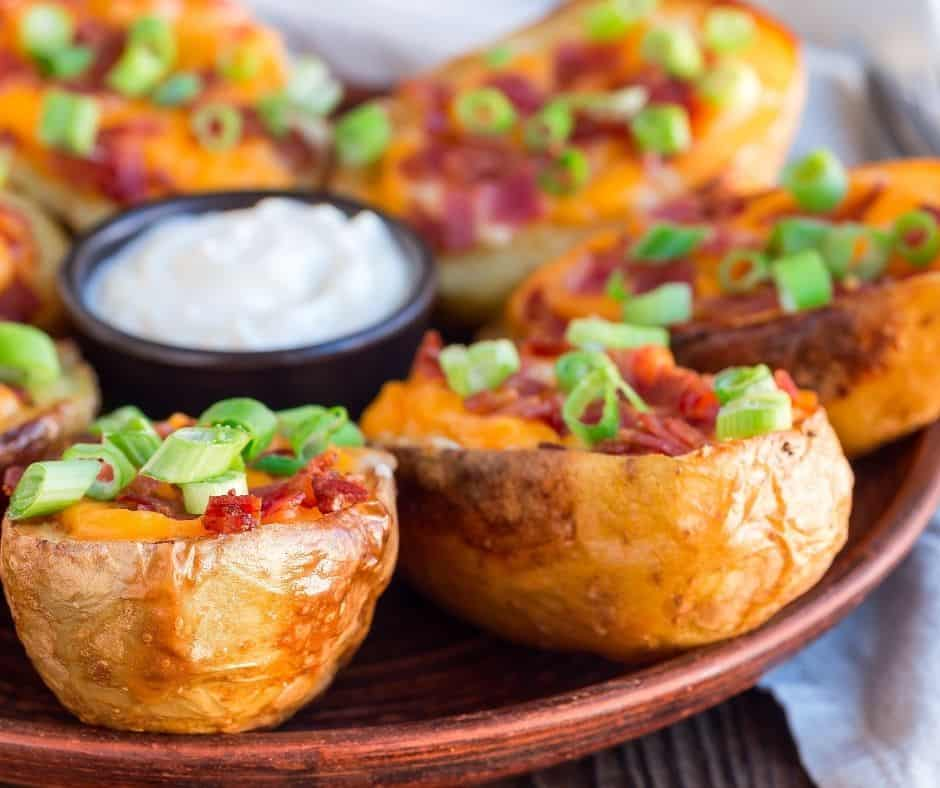 Instant Pot Loaded Potato Skins