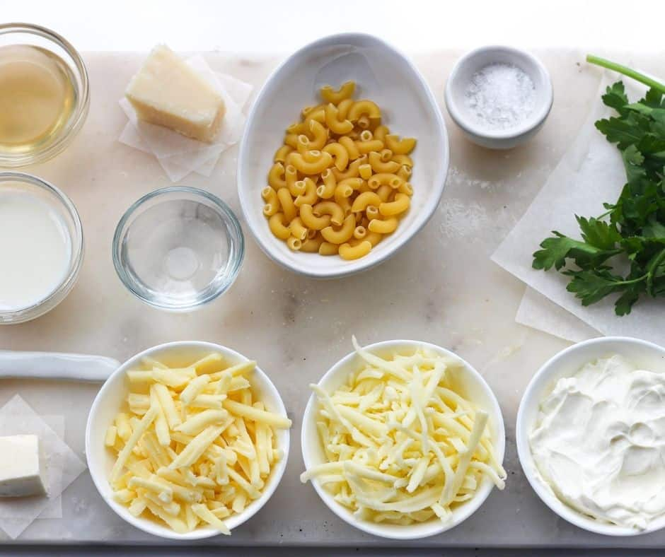 ingredients for Instant Pot Macaroni and Cheese