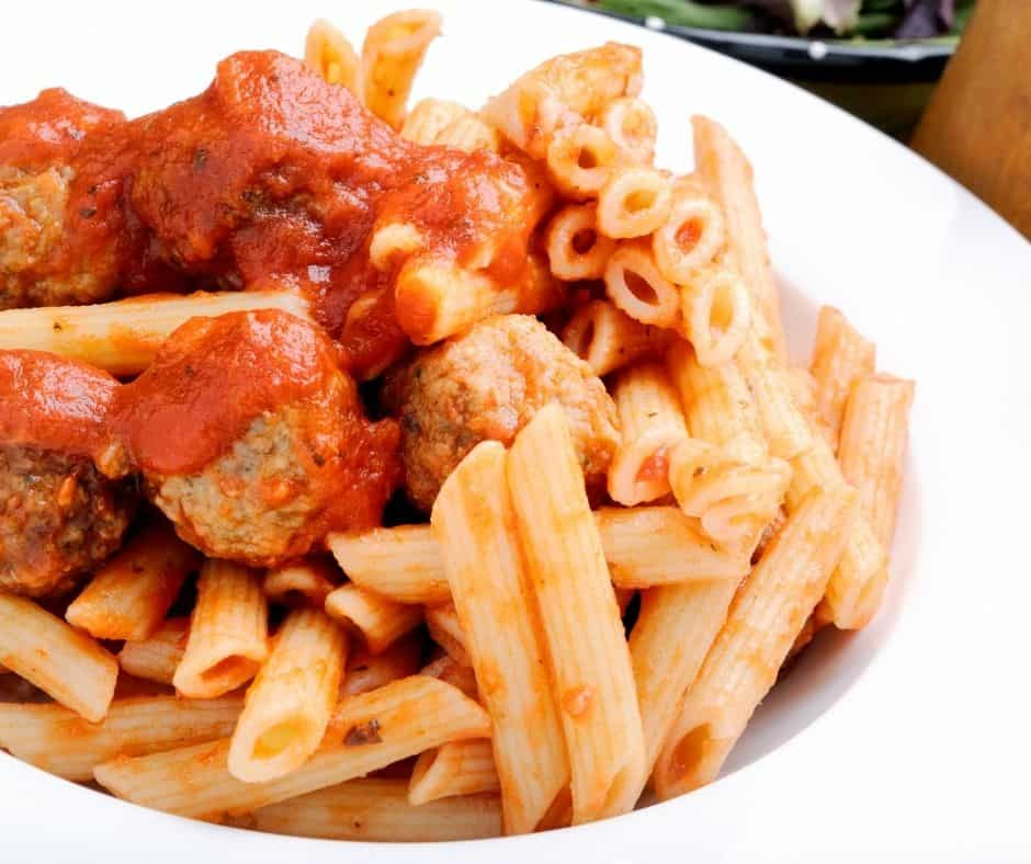 Instant Pot Pasta and Meatballs