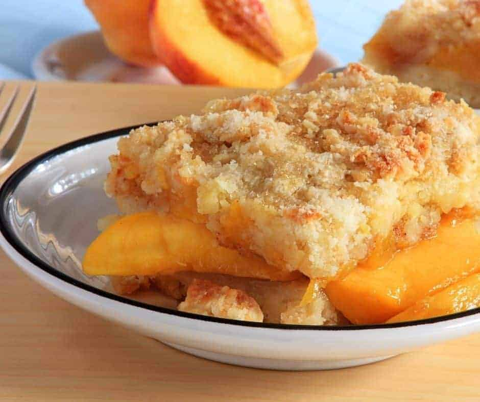 Instant Pot Peach Cobbler