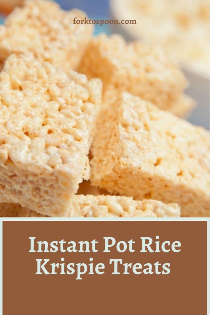 Instant Pot Rice Krispie Treats