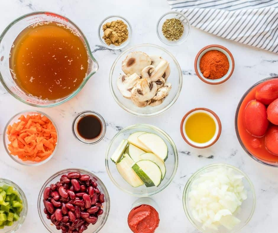Ingredients Needed For Instant Pot Vegetarian Chili