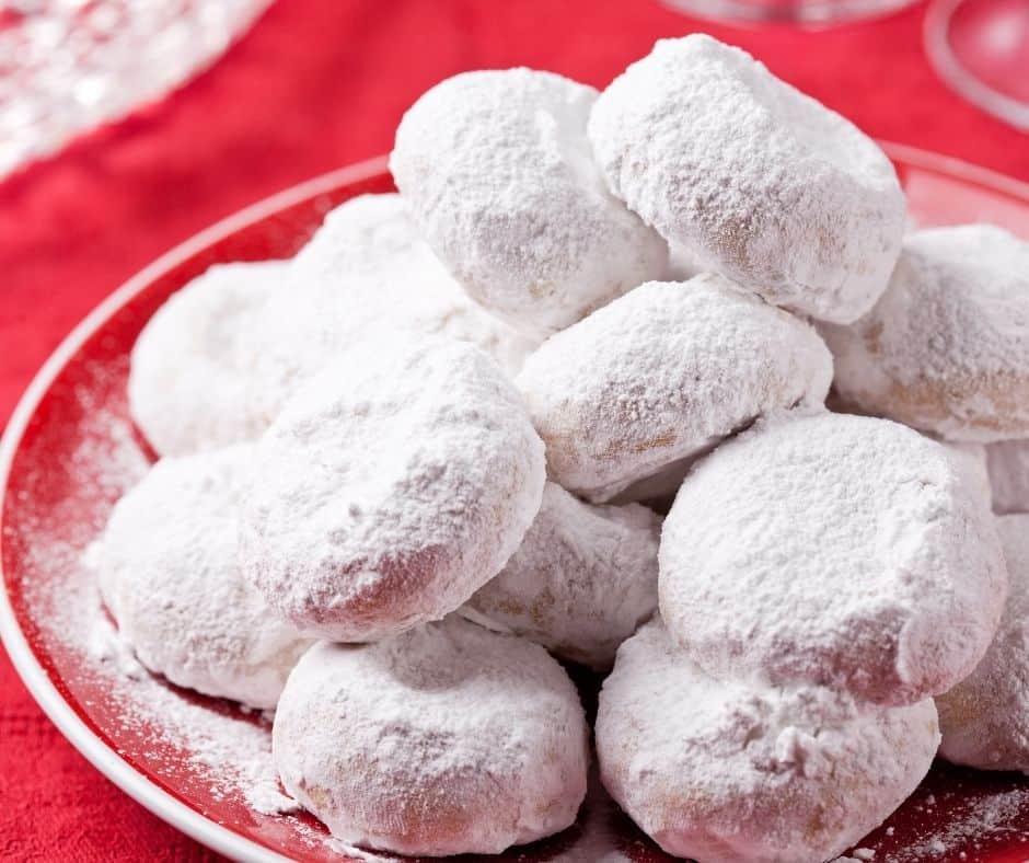 Air Fryer Homemade Kourabiedes (Greek Sugar Cookies)