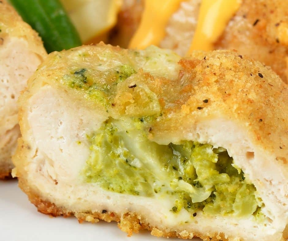 Air Fryer Broccoli and Cheese Stuffed Chicken