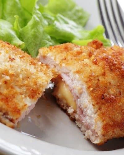 Air Fryer Chicken Cordon Bleu