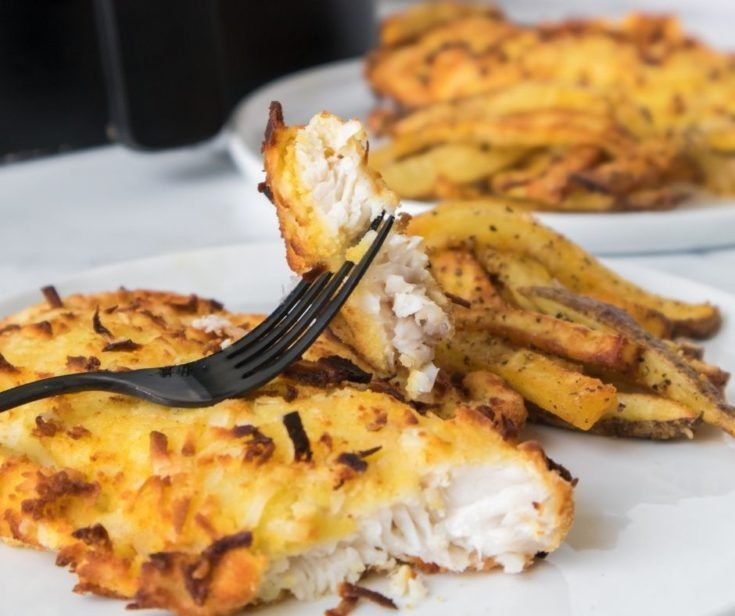 Air Fryer Coconut Crusted Tilapia
