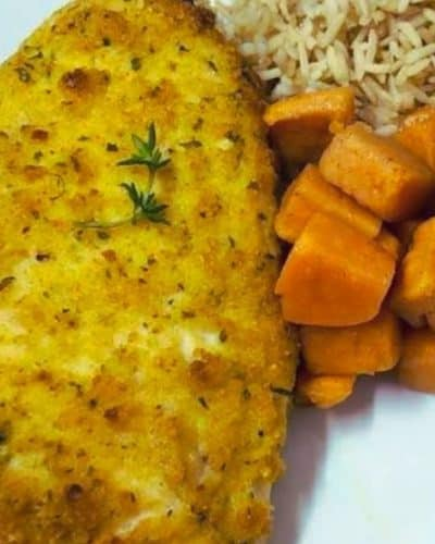 Air Fryer Herb Crusted Chicken Breasts