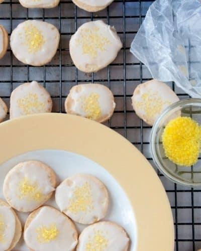 Air Fryer Lemon Drop Cookies