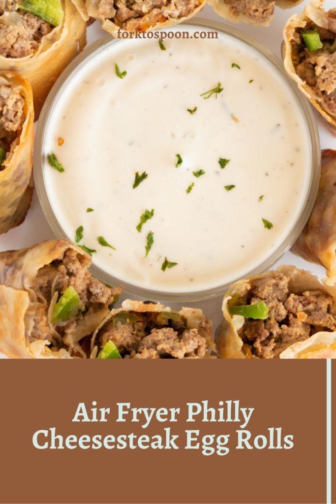 Air Fryer Philly Cheesesteak Egg Rolls