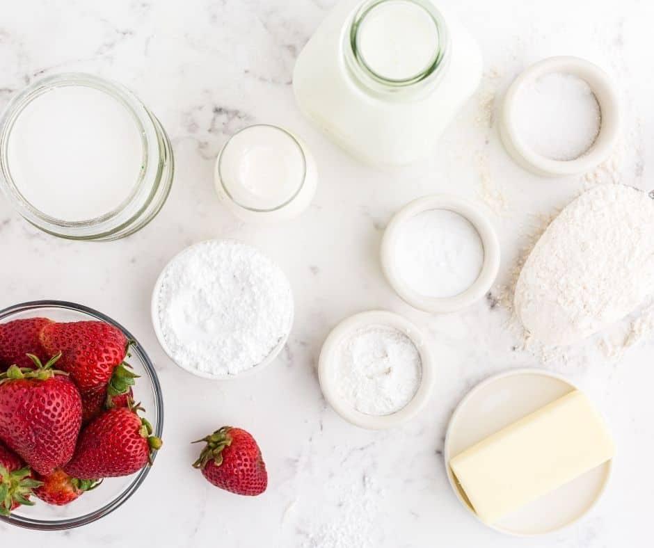 Ingredients Needed For Air Fryer Strawberry Scones