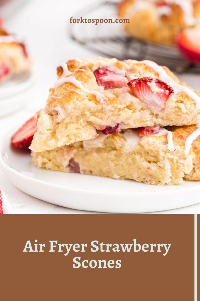 Air Fryer Strawberry Scones