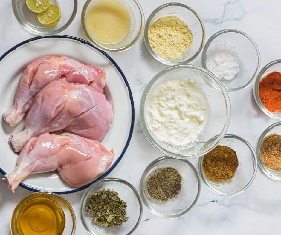 Ingredients Needed For Air Fryer Tandoori Chicken Legs